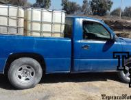 Recupera policia estatal  combustible robado en Hueyapan y San Felipe Tenextepec, Tepeaca