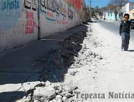 En Tepeaca, obras inconclusas del ayuntamiento  ponen en riesgo a personas en el Calvario .