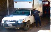 Recuperan camioneta  robada y rescatan a empleados en Santiago Acatlan, Tepeaca