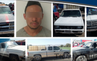 Recuperan estatales 19 camionetas y  16 mil litros de combustible;en Tepeaca detienen a uno