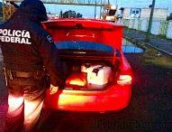 Detienen federales a conductor de UBER con combustible ilegal en Carpinteros,Tepeaca