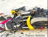 Impactan camión y   motocicleta en Tepeaca ; fallece una mujer