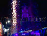Con espectacular pirotecnia , celebran comerciantes al Niño Doctor de Tepeaca