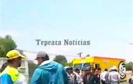 Deja un muerto choque de motociclista conta camioneta   en carretera federal en San Hipólito, Tepeaca