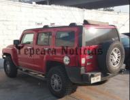 Federales  aseguran Hummer robada con combustible ilegal en  Tepeaca