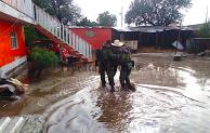 Tromba en  Esperanza, deja al menos 130 damnificados y 35 viviendas dañadas