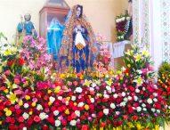 Celebra barrio  El Calvario,festividad de la octava de la Virgen de la Soledad en Tepeaca.