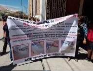 Continúan protestas contra David Huerta Ruiz  por obras inconclusas en Tepeaca