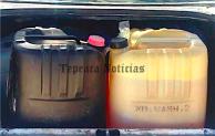 Aseguran a roba ductos con 400 litros combustible ilegal en Tepeaca