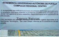Alistan 120 lugares en nuevo turno vespertino  de preparatoria complejo regional Tepeaca BUAP