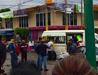 Persecución  y choque,  en intento de asalto, provoca pánico en calles de  Tepeaca.