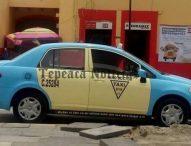 Asalta y roban con violencia vehículo a taxista del centro de Tepeaca; van tres en una semana.