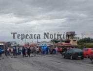 En Amozoc, bloquean carretera Puebla-Tepeaca en protesta por inundaciones