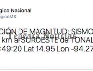 Fuerte sismo de 8. 4 grados sacude Tepeaca la noche de este jueves