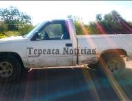 Recuperan  camioneta robada  en  Álvaro Obregón, Tepeaca