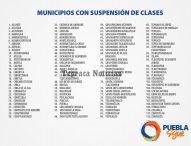Seguirá  suspensión de actividades en Tepeaca y 112 muncipios más; anuncia SEP y Gali la medida.