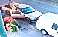 Frustran robo de camioneta en tianguis de Tepeaca