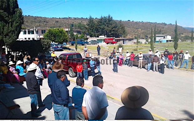 Reclaman a David Huerta Ruiz  por inseguridad en San Lorenzo Joya , Tepeaca