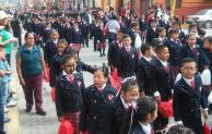 Cancela David Huerta desfile conmemorativo  del 20 de Noviembre en Tepeaca