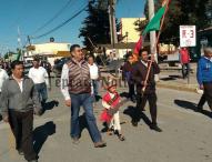 Desfilan por CCVII Aniversario de la Revolucion  en Hueyapan, Tepeaca