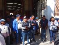 Protestan en Tepeaca contra  David Huerta  por inseguridad y falta de atención