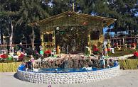 Celebran 35 años de realizar Nacimiento Monumental en zócalo de Tepeaca