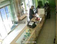 Captan en video  a ladrones de comercios establecidos en Tepeaca
